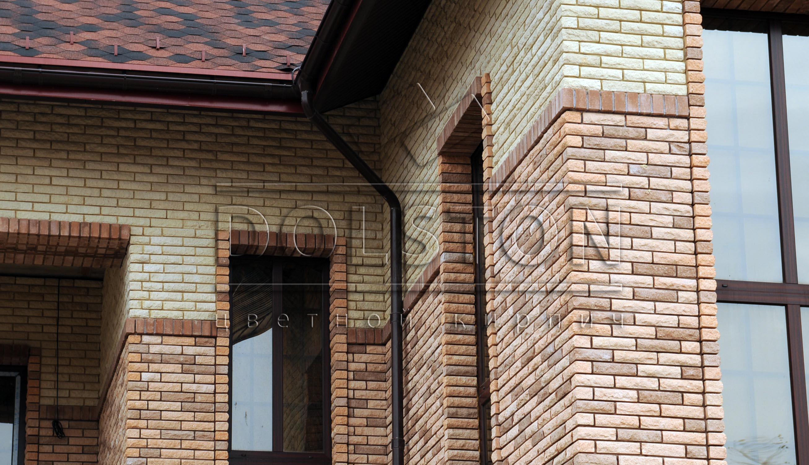 Светло-коричневый фасад дома
