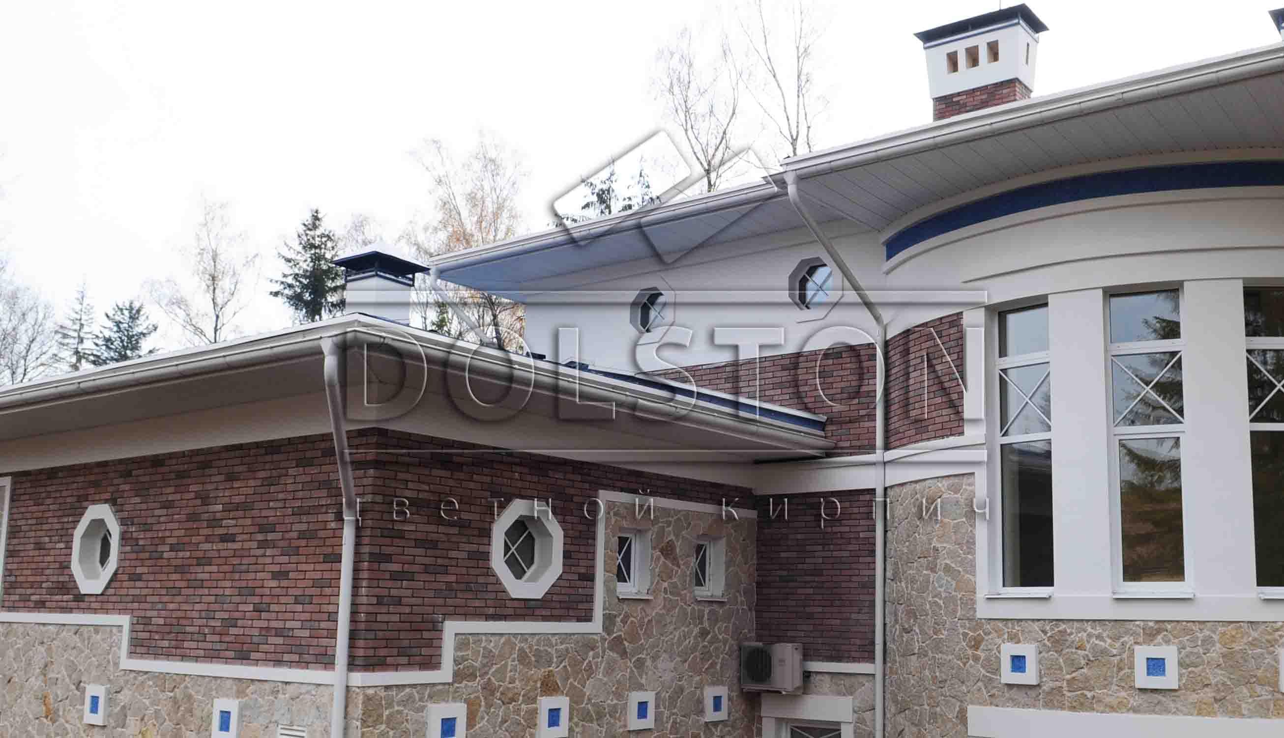 Фасад из коричневого кирпича - фото № 4567
