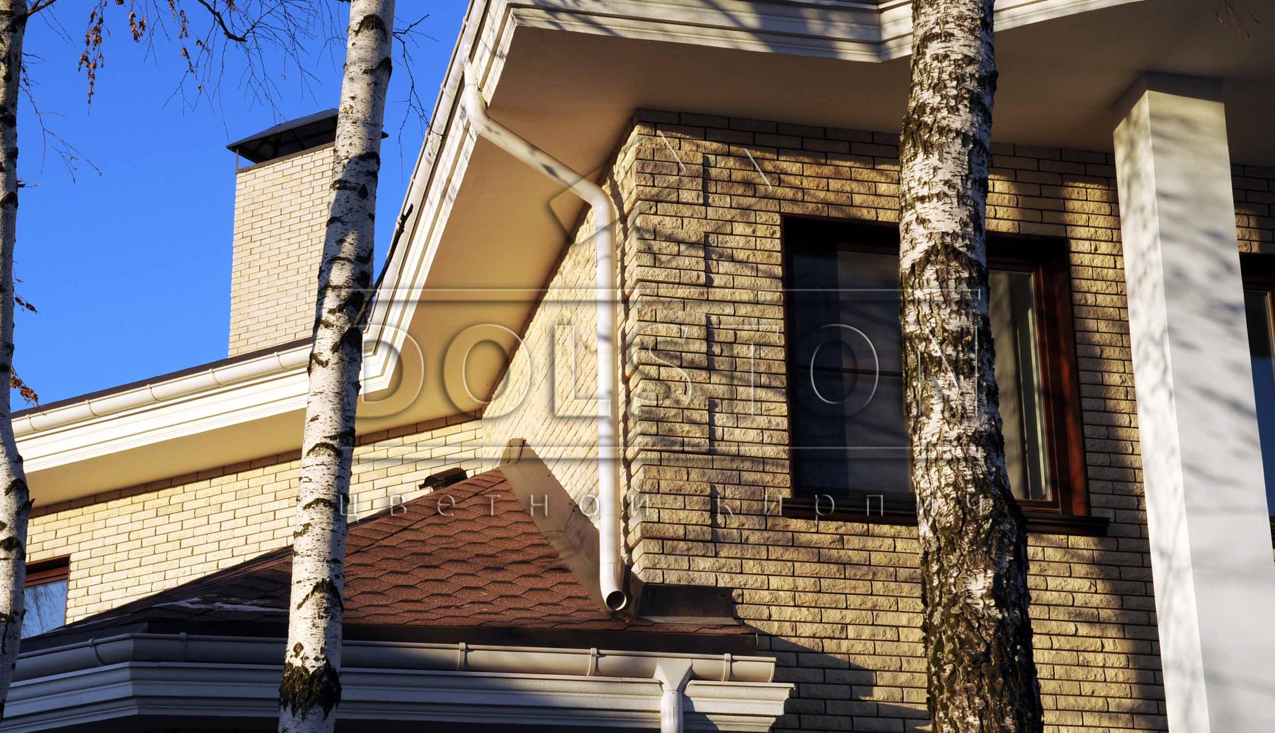 Фасад серый облицовочный кирпич - фото № 34578