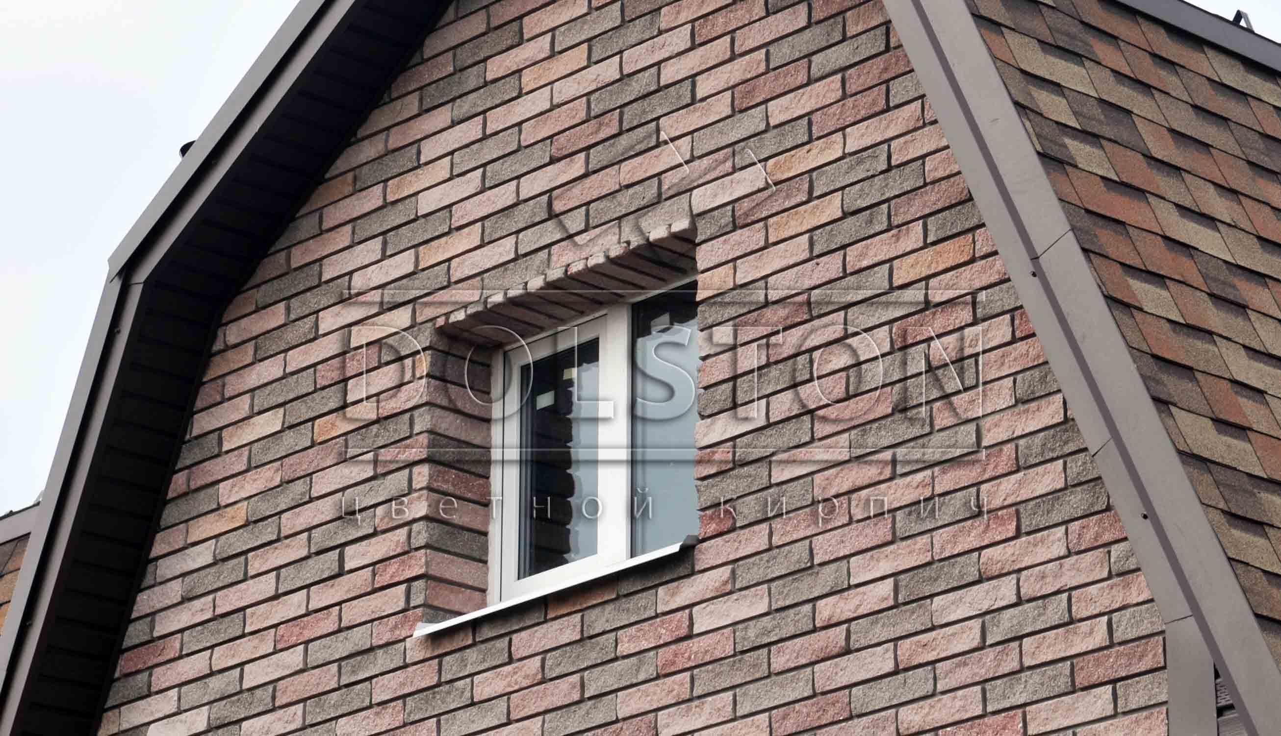 Отделка окна плиткой под кирпич