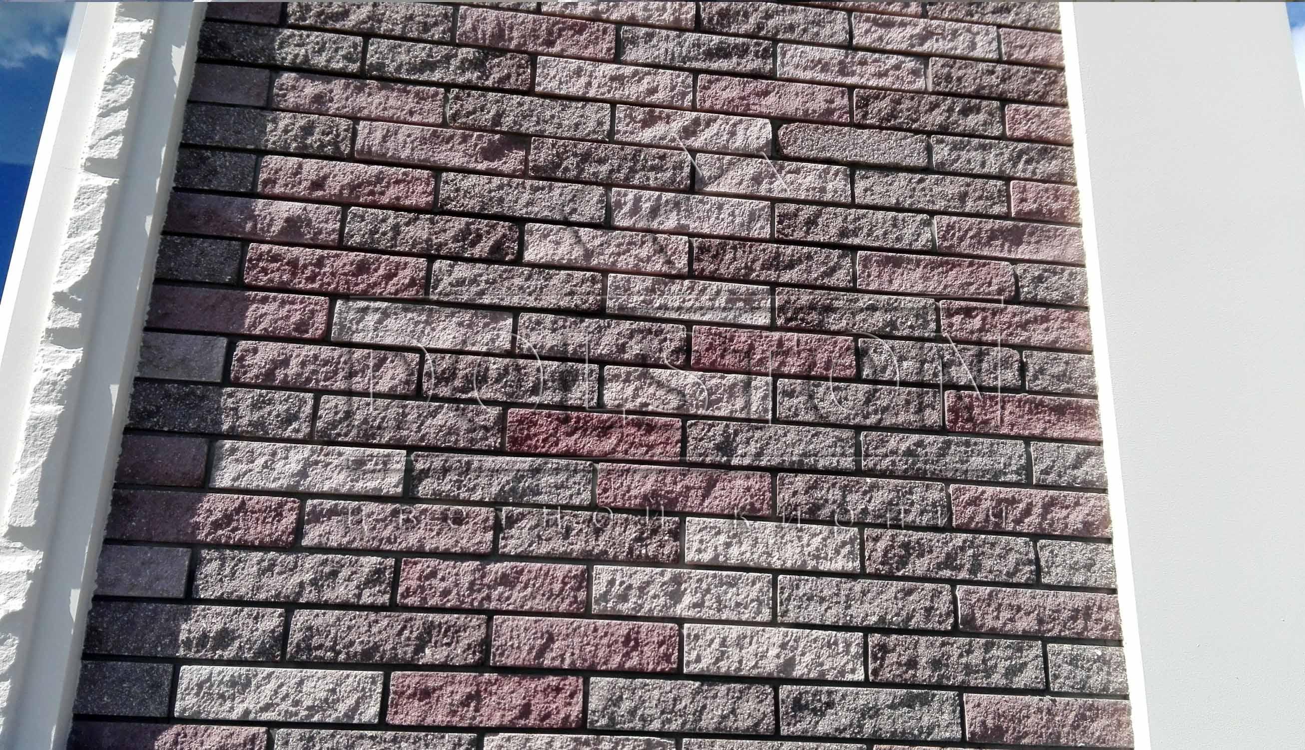 Тонкий кирпич - фото стены № 5669