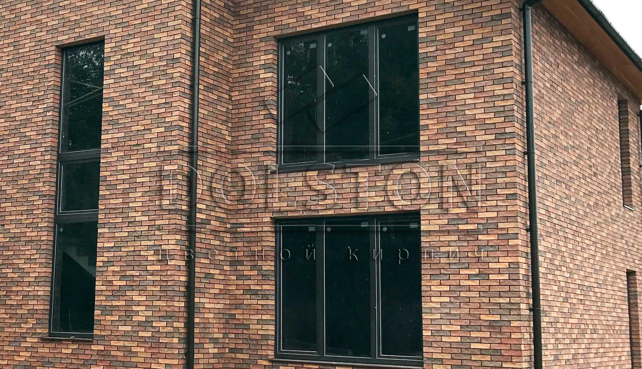 Отделка фасада частного дома фасадной плиткой - фото № 233