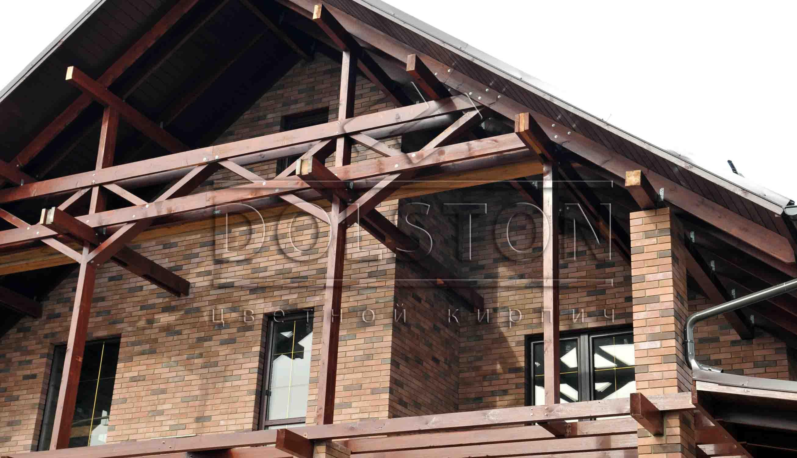 Клинкерный коричневый кирпич - фото № 1298