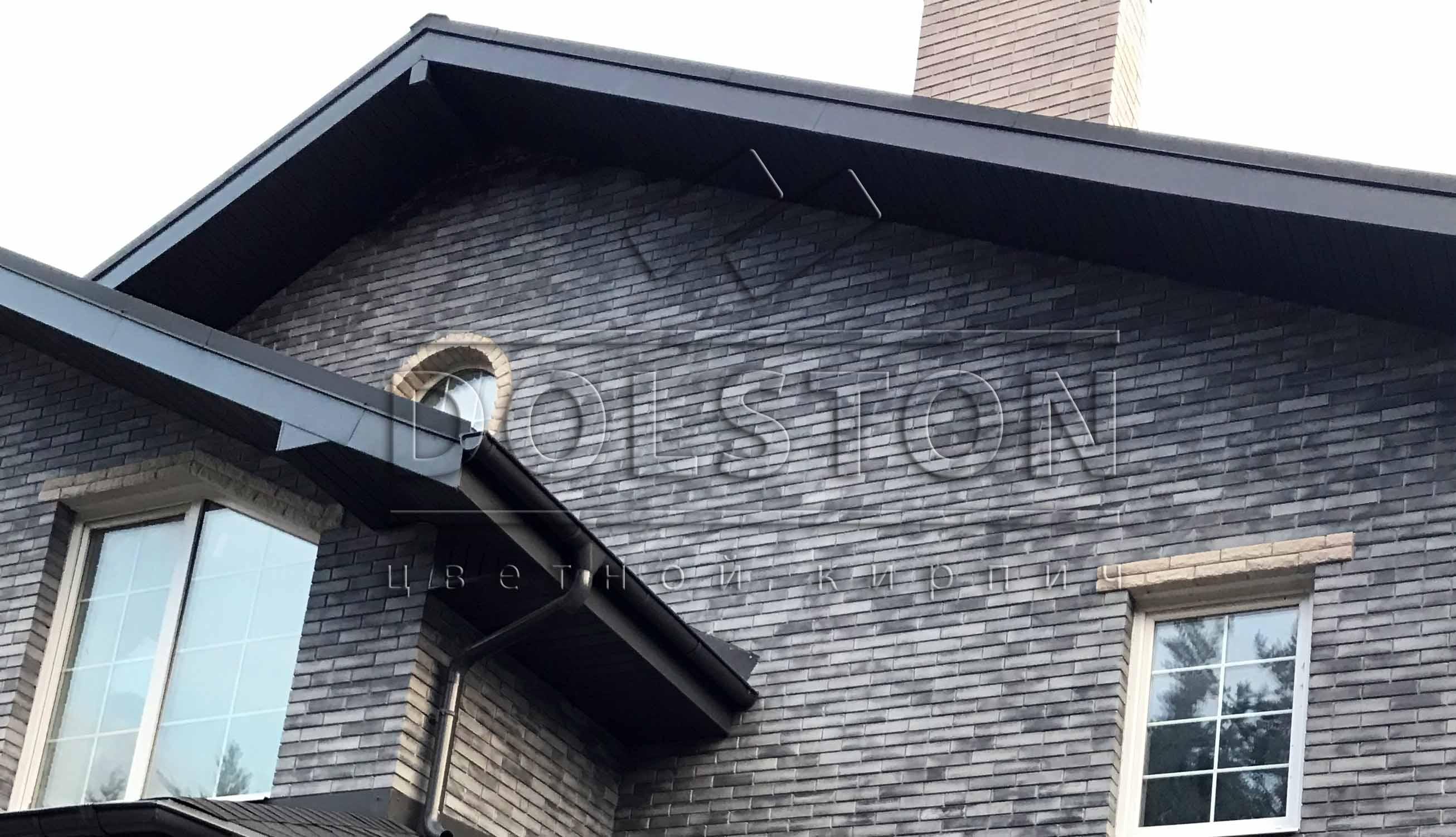 Черный облицовочный кирпич DOLSTON