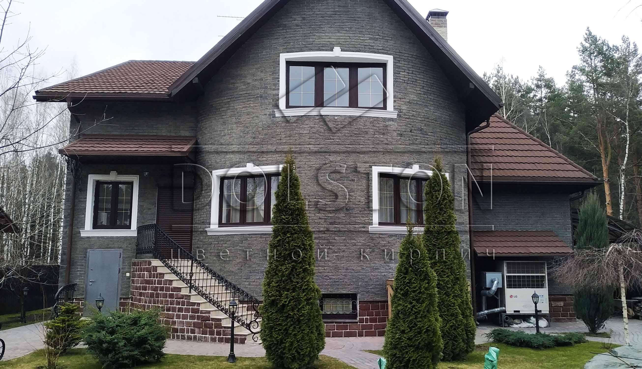 Фасадная плитка для внешней отделки черного цвета