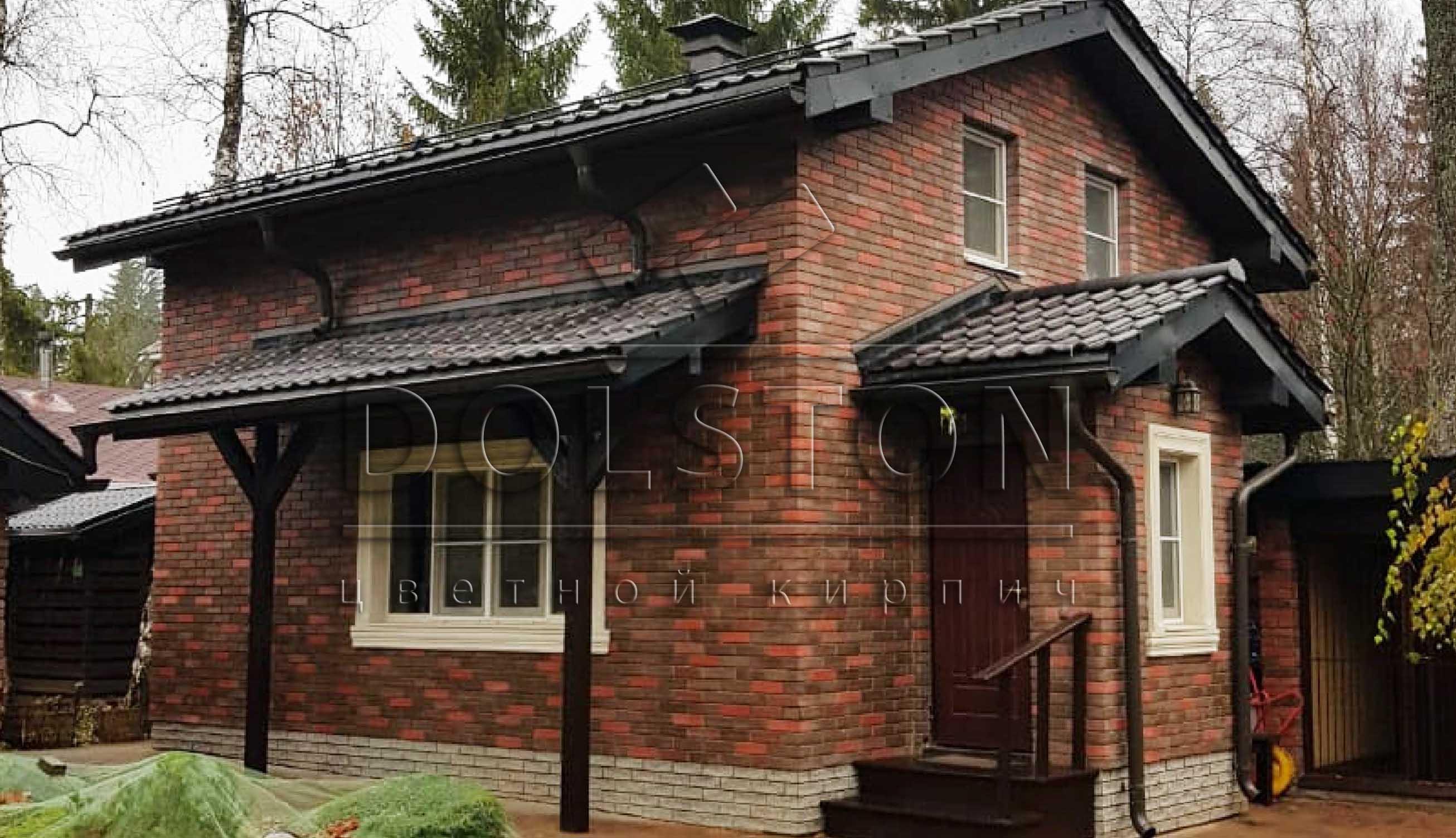 Фото дома из декоративного кирпича Долстон